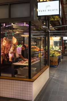 Meat store interior projects Ideas for 2019 Butcher Store, Local Butcher Shop, Carnicerias Ideas, Meat Store, Supermarket Design, Food Retail, Meat Markets, Interior Design Awards, Store Design
