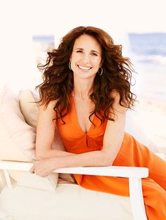 Andie MacDowell....South Carolina Lady Whether it's streaked with Grey or Colored Brunette it still looks good