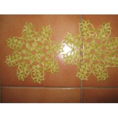 Lot Napperons Crochet -Ref 0786 - 3,00 Euros - Vert-Diamètre 15