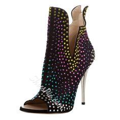 Open Toe Stiletto Heel Women's Boots
