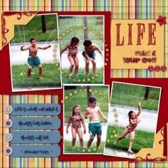 I love scrapbook pages that are not all junked up with 55 papers and embellishments and then you have to search for the photos! This is really cute! #scrapbooking101