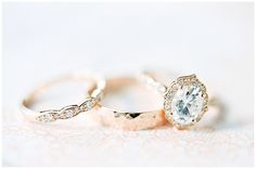 Rose gold engagement ring set! Vintage inspired must have!