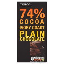 T.Cont 74% Plain Chocolate Bar 100G - Groceries - Tesco Groceries