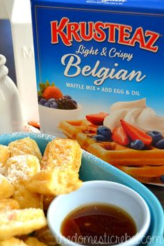 Cinnamon Vanilla Waffle Dippers and a Breakfast Night Giveaway with Krusteaz! | The Domestic Rebel