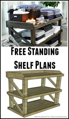 Free Standing Shelf Building Plans