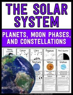 Astronomy Unit - This set contains 46 pages that will help enhance your unit on astronomy.  Included pages are:- Planet Posters with image and facts- Constellation Posters (Capricorn, Scorpio, Leo, Libra, Cancer, Sagittarius, Virgo, Gemini, Taurus, Aries, Aquarius, Pisces, Big Dipper, Pegasus, Lyra, Hercules, and Orion)- Moon Phases Posters (Full, Waning Gibbous, Third Quarter, Waning Crescent, New, Waxing Crescent, First Quarter, Waxing Gibbous)- Reading Comprehension Passages with…