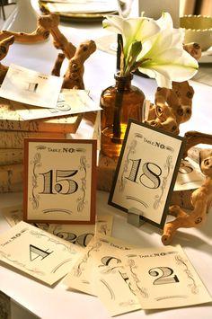 Wendelline Papers Vintage Table Numbers www.wendellinepapers.com