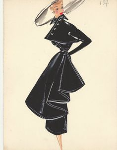 Attributed to the Fashion House of Jacques Heim, c.1 9 4 0, Woman in a cocktail ensemble.