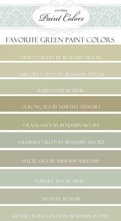 ideas for exterior house colors. Like the svelte sage Interior Paint Colors For Living Room, Living Colors, Kitchen Paint Colors, Exterior Paint Colors, Exterior House Colors, Paint Colors For Home, Green Paint Colors, Wall Colors, Room Colors
