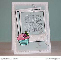 Mama Elephant Carnival Toppers (sentiment);  Polaroid Fun dies & Carnival Cupcakes stamp set