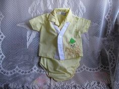 Vintage Yellow Baby Outfit by Mayfair by jonscreations on Etsy