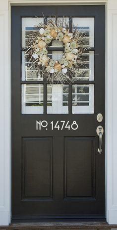 Vinyl House Door or Wall Numbers Sans Serif front door sticker house number address house identification outdoor vinyl apartment