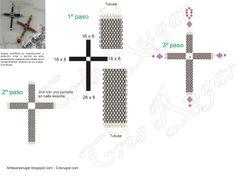 Beaded Cross PATTERN - - Cristina Rugar