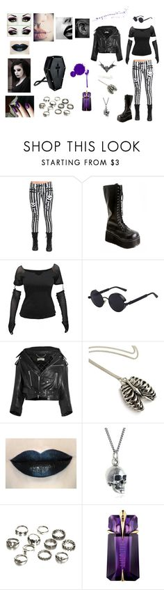 """""""Purple"""" by banasheeanni ❤ liked on Polyvore featuring Demonia, Balenciaga, Black Pearl and Thierry Mugler"""