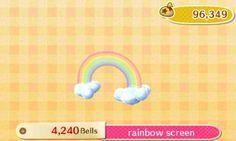 Animal Crossing New Leaf-  DLC-Rainbow Screen