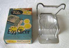 """Tala vintage """"Two Way Egg Slicer"""" in original box (c.1950s) (SOLD Mar. 2016) - www.vanishederas.com"""