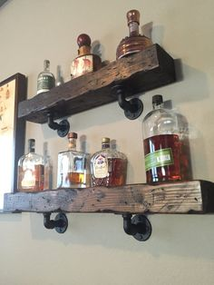Distressed Wood Shelves by BattlebornDesigns on Etsy