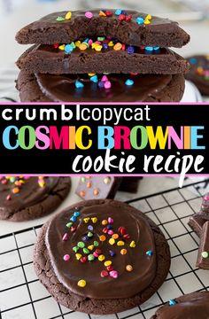Brownie Cookies, Yummy Cookies, Yummy Treats, Delicious Desserts, Sweet Treats, Gourmet Cookies, Yummy Food, Brownie Recipes, Cookie Recipes