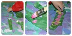 How To Paint Monet's Waterlillies With Children