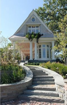I want some kind of stairs to my front door, but I go down, not up!