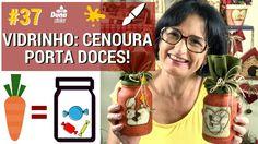 VIDRO: CENOURA PORTA DOCES - Pintando Com o ❤ #37 DIY-Pintura Country De...
