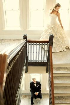 Take photos together before the ceremony without seeing each other