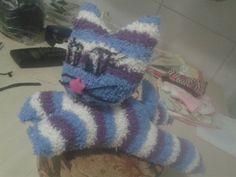Gatinho feito com meias... #Meninas #EncantosDaFada #InpiradoEmDicas