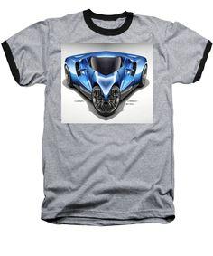 Baseball T-Shirt - Blue Car 01