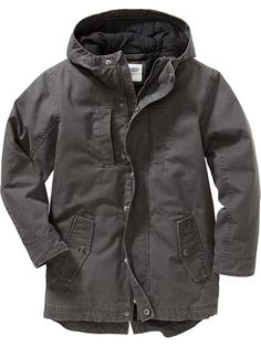 Boys Hooded Canvas Jackets Product Image