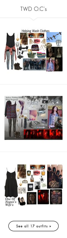 """TWD O.C's"" by batgirl-at-the-disco3 ❤ liked on Polyvore featuring Honey-Can-Do, Paige Denim, Boutique, R13, Holster, Younique, Head Over Heels by Dune, Scosha, HomArt and Skagerak"
