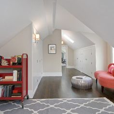 9 Rewarding Clever Tips: Attic Storage Assistance attic hangout man cave.Attic Remodel Tips attic apartment scandinavian. Garage Attic, Attic House, Up House, Attic Floor, Attic Wardrobe, Attic Closet, Attic Office, Attic Library, Closet Doors