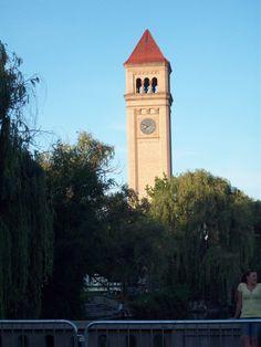 Clock tower in Riverfront park in Spokane, WA