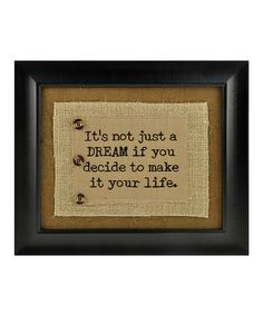 Look at this #zulilyfind! 'Not Just A Dream' Wall Plaque #zulilyfinds