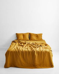 Turmeric Flax Linen Quilt Cover Set | Bed Linen Sets Online – Bed Threads