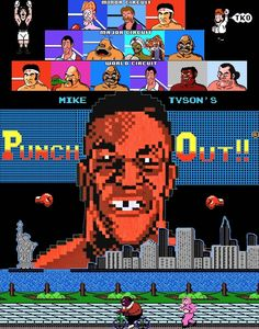 Mike Tyson's Punch Out NES Nintendo Retro 8 Bit Art Poster Video Game King Hippo | eBay