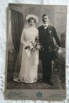 Antique cabinet photo,wedding,couple,bride,groom Lilienfeld Austria Willi Wagner Antique Cabinets, Wedding Couples, Bride Groom, Austria, Vintage Photos, Statue, Antiques, Ebay, Antiquities