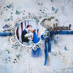 Wedding in blue with Happy Accident by Vera Shelemekh