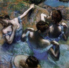 Edgar Degas, The Blue Dancers, c. 1897, Pastel, 67 x 67 cm, Pushkin Museum, Moscow
