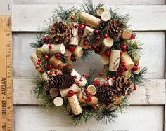 Items similar to Small Christmas Wine Cork Accent Wreath - 4 Choices on Etsy Wine Cork Wreath, Wine Cork Ornaments, Wine Cork Art, Wine Cork Crafts, Wine Bottle Crafts, Wine Corks, Cork Christmas Trees, Christmas Wine, Christmas Wreaths