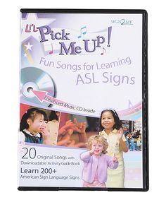 Look what I found on #zulily! Early Learning: Li'l Pick Me Up CD & PDF Activity Book Set by Sign2Me Early Learning #zulilyfinds