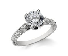Monique Lhuillier Trio Cathedral Engagement Ring from Blue Nile
