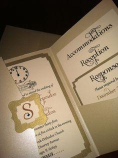 New Years Eve Wedding Invitation Sample- Swarvoski. $7.00, via Etsy.