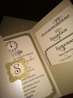 New Years Eve Wedding Invitation Sample- Swarvoski