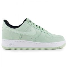 The Nike Women's Air Force 1 '07 in green suede is availabe now for $100 on CityGear.com