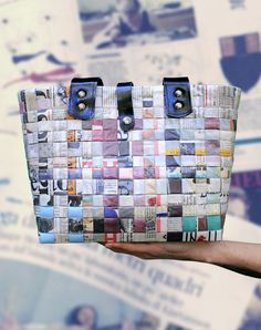 Borse a tracolla - Tuia - Borsa di carta intrecciata con tracolle - un prodotto unico di Uno-piu-uno-uguale-sette su DaWanda