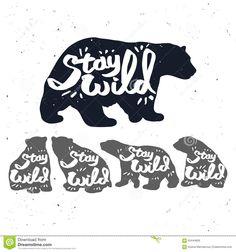 Vintage Bear Logo Stock Vector - Image: 63444826