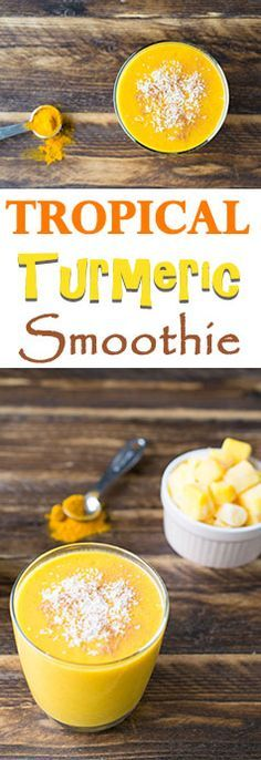 Tropical Turmeric Smoothie with Anti-Inflammatory Properties! Click the image or link for more smoothie information. Turmeric Health, Turmeric Smoothie, Juice Smoothie, Smoothie Drinks, Turmeric Curcumin, Healthy Fruit Smoothies, Best Smoothie Recipes, Healthy Drinks, Vegetarian Smoothies