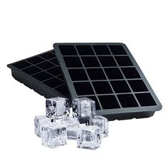 Ticent Ice Cube Trays  20 Cavity 1 Inch Silicone Molds  Pack of 2 Black ** Want additional info? Click on the image.