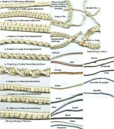 Free Patterns Hemp Jewelry Knots   Custom Hemp Bracelet, Anklet 2WChinese Coin, Twist