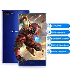"UNLOCKED Doogee Mix 5.5"" 4G Smartphone Android 7.0 Helio P25 Mobile Phone 64GB"